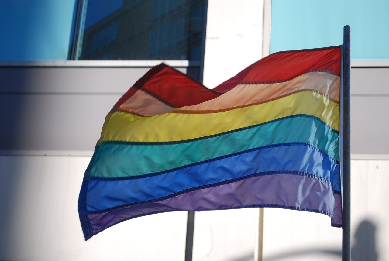 Image of a rainbow flag - LGBT Mental Health - Hillcrest Adolescent Treatment Center